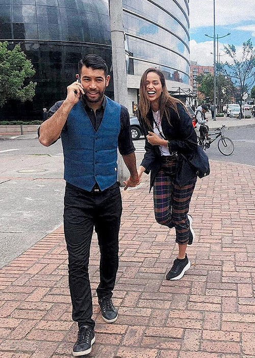 Andrea Tovar with her Boyfriend Julian Guillermo as seen on her Instagram Profile in March 2019