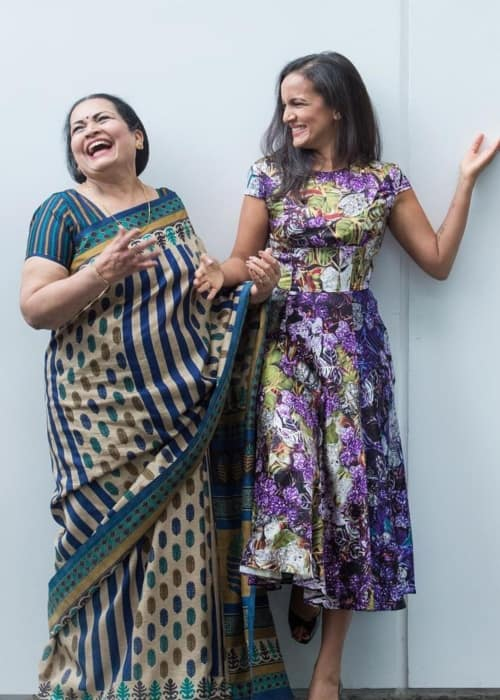 Anoushka Shankar (Right) with her mother as seen in November 2018