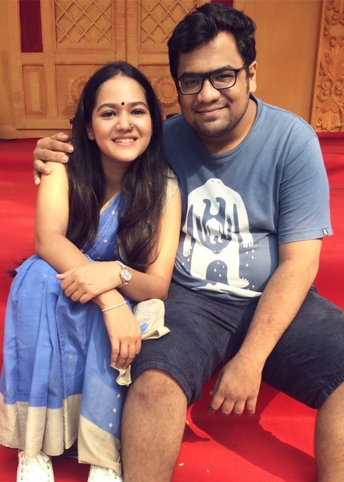 Ayesha Kaduskar as seen in a picture with her older brother Reuben Kaduskar taken in November 2017