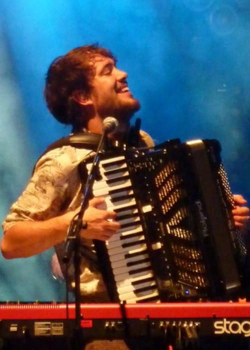Ben Lovett during a performance in September 2010
