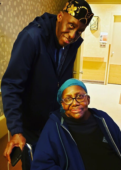 Bill Duke with his Sister Yvonne Duke Hampton as seen on his Twitter Profile in February 2019