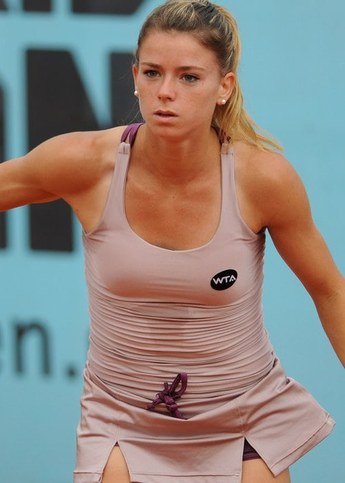 Camila Giorgi during a match in May 2015