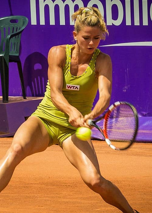 Camila Giorgi during a tournament in May 2014