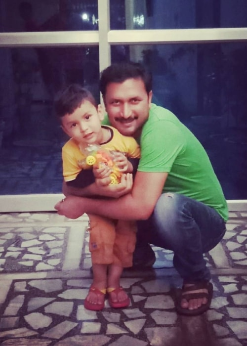 Chandresh Singh and his son Anay Singh as seen in a picture taken in March 2018