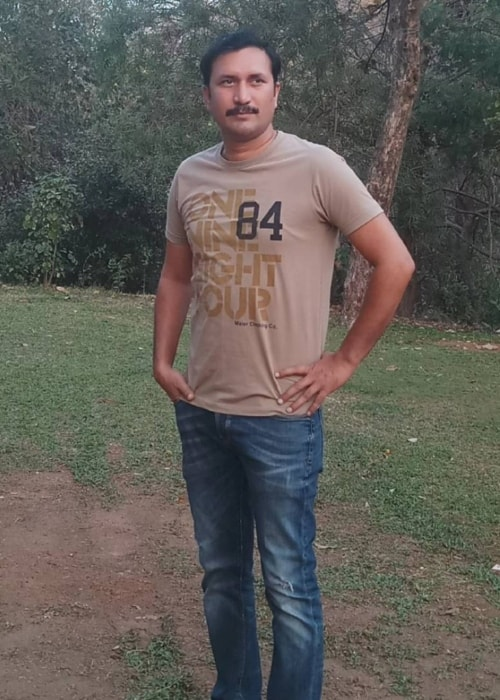 Chandresh Singh as seen in a picture taken in Film City in February 2018
