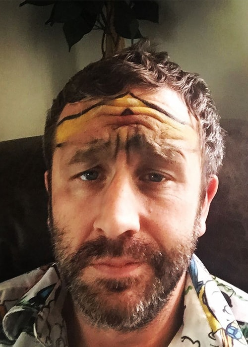 Chris O'Dowd in an Instagram Selfie as seen in October 2017