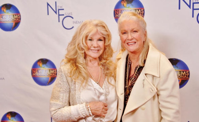 Connie Stevens with Diane Ladd as seen on her Twitter Profile in December 2012