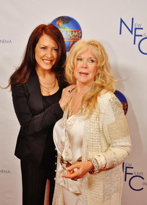 Connie Stevens with Joely Fisher as seen on her Twitter Profile in December 2012