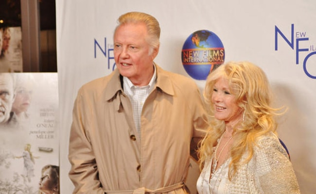 Connie Stevens with Jon Voight as seen on her Twitter Profile in December 2012