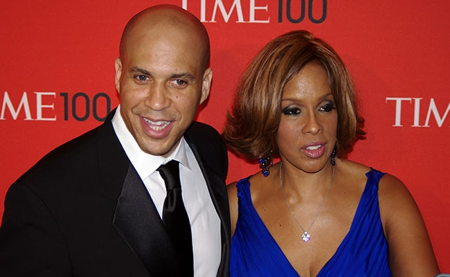 Cory Booker and Gayle King at the Time 100 Gala in 2011