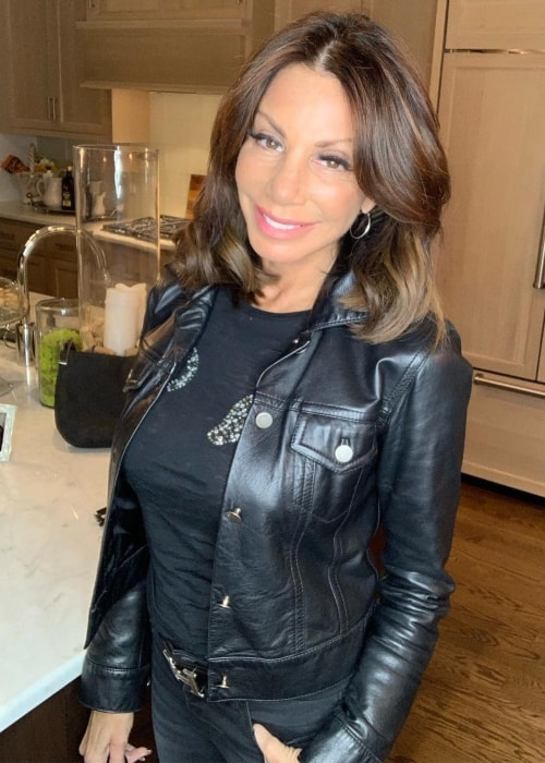 Danielle Staub as seen in a picture taken in Englewood, New Jersey in January 2019