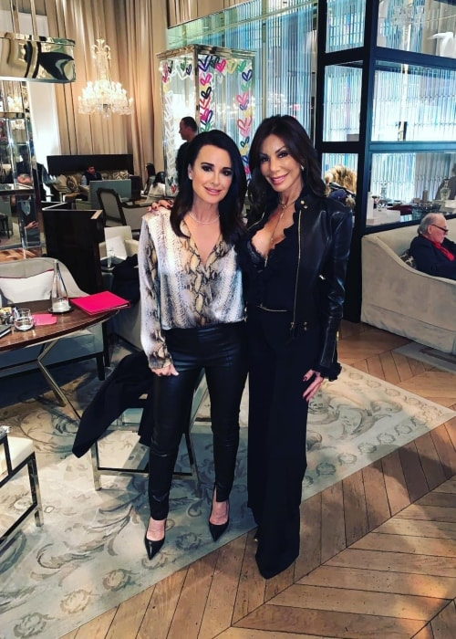 Danielle Staub as seen in a picture with Kyle Richards Umansky at the Baccarat Hotel in New York in February 2019