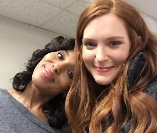 Darby Stanchfield (Right) and Kerry Washington in a selfie in January 2019