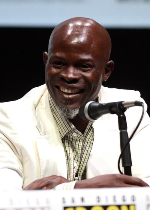 Djimon Hounsou speaking at the 2013 San Diego Comic Con International