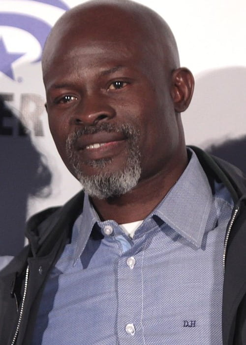 Djimon Hounsou speaking at the 2016 WonderCon in Los Angeles