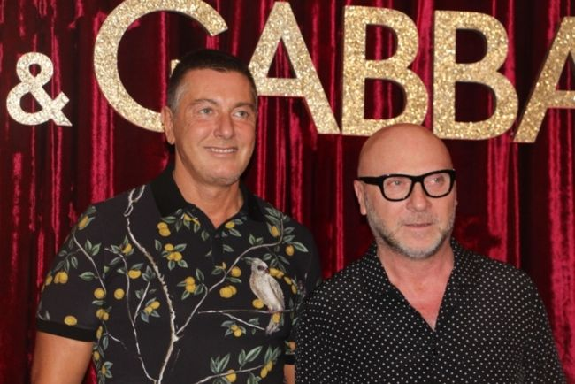 Domenico Dolce and Stefano Gabbana together