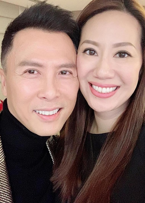 Donnie Yen with his Spouse Cissy Wang as seen on his Instagram Profile in February 2019