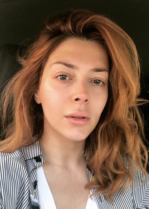 Elena Satine as seen in a selfie taken in June 2018