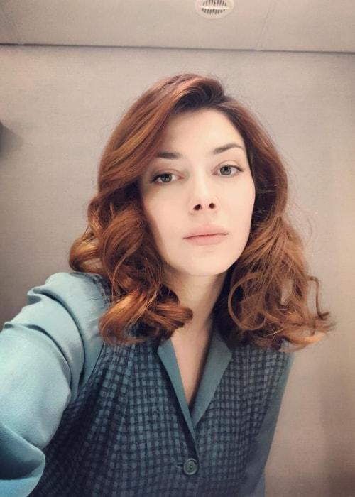 Elena Satine as seen in a selfie taken in May 2018