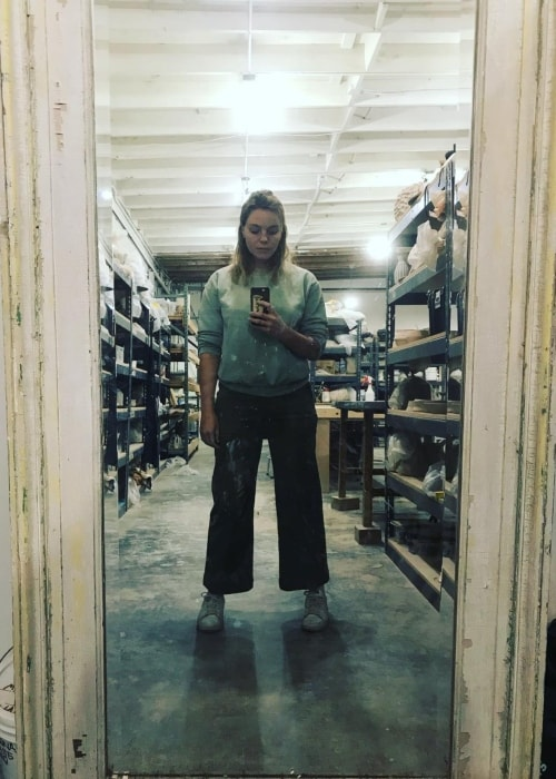 Eloise Mumford in a selfie taken during pottery classes in November 2018