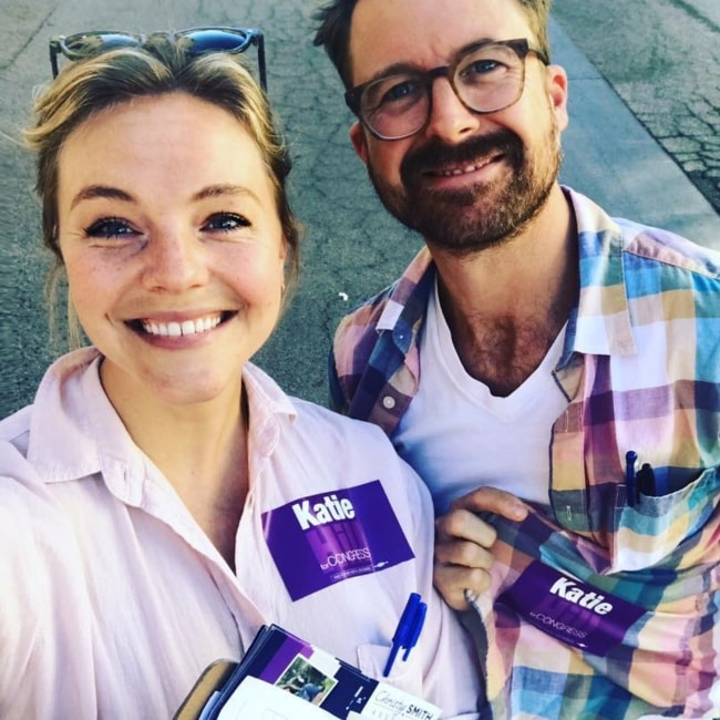 Eloise Mumford in a selfie with her boyfriend taken in October 2018