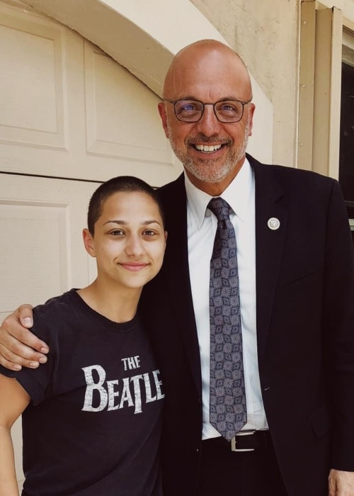 Emma González with Congressman Ted Deutch in February 2018