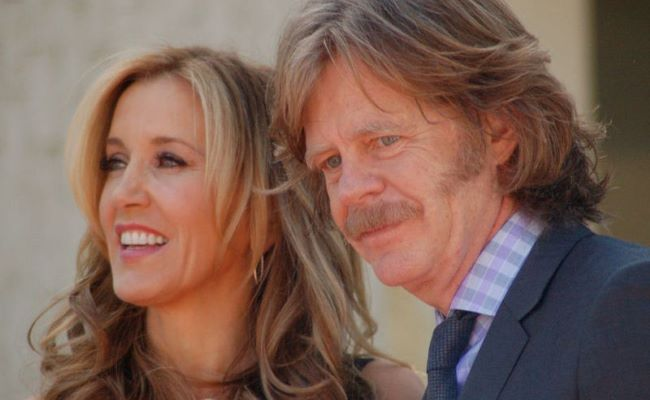 Felicity Huffman and her Spouse William H. Macy at a ceremony for Huffman and Macy to receive a star on the Hollywood Walk of Fame