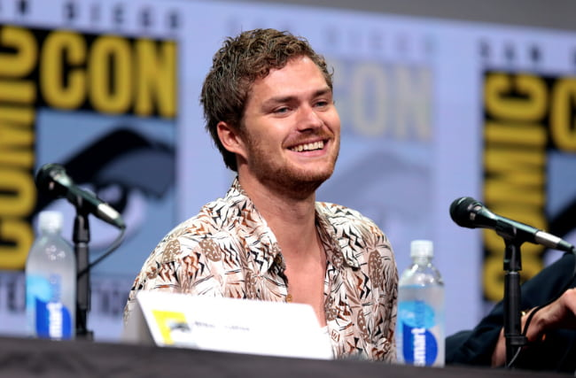 Finn Jones speaking at the 2017 San Diego Comic Con International