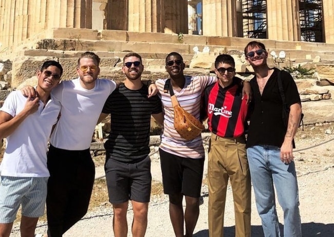 From Left to Right - Mark Manio, Scott Hoying, Mason Catt, Matt Sallee, Mitch Grassi, and Beau Sloane enjoying their time in Athens, Greece