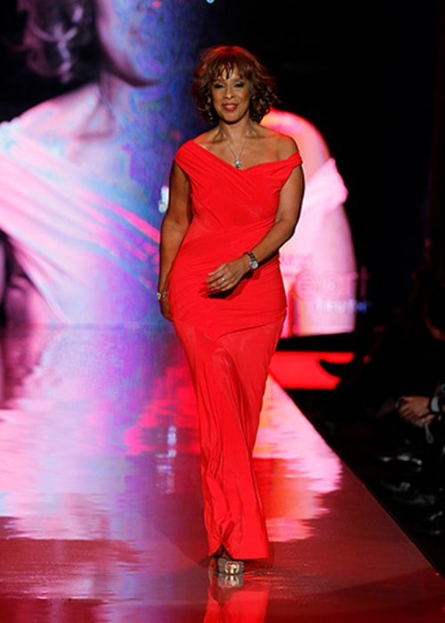 Gayle King at The Heart Truth's Red Dress Collection Fashion Show in 2011