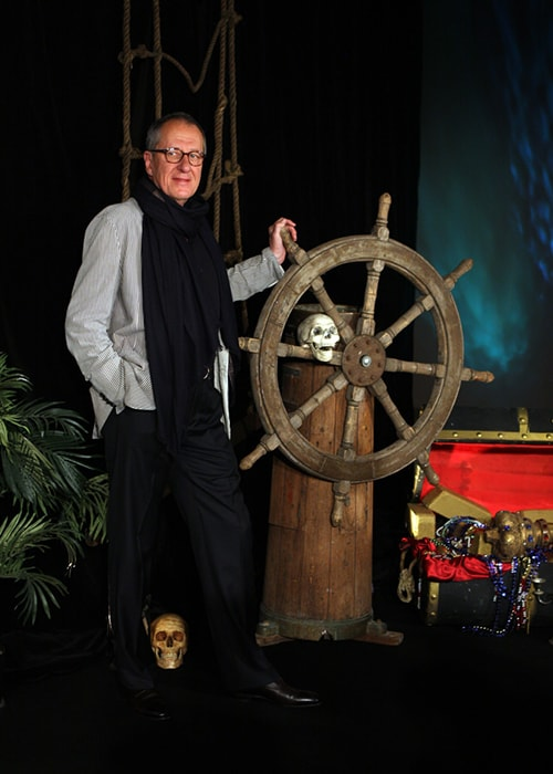 Geoffrey Rush in an Event of the Pirates of the Carribean