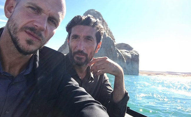 Gustaf Skarsgård with his Fares Fares as seen on his Instagram Profile in December 2018