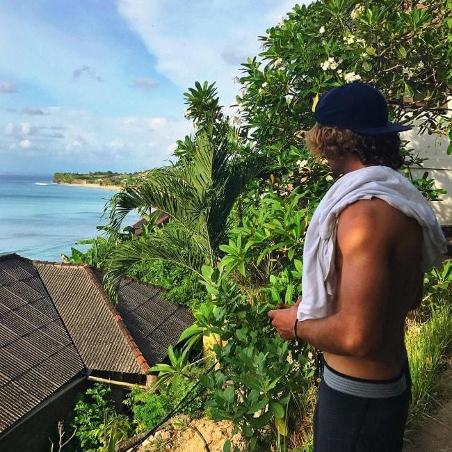 Jack Brinkley-Cook as seen while posing shirtless in Padang Padang Beach, Bali in November 2016