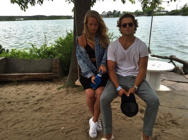 Jack Brinkley-Cook with younger sister, Sailor Brinkley-Cook, at The Surf Lodge in July 2016