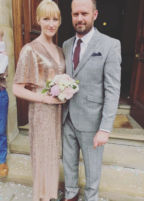 Jade Parfitt as seen in a picture that was taken on the day of her wedding in May 2018