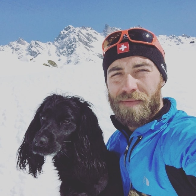 James Middleton as seen in a selfie with his dog in March 2019