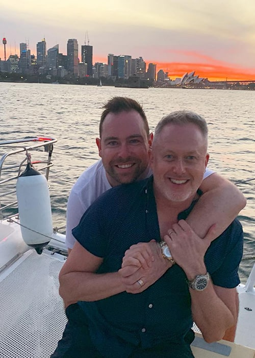 Jason Gilkison with his Boyfriend James P. Carney as seen on his Instagram Profile in March 2019