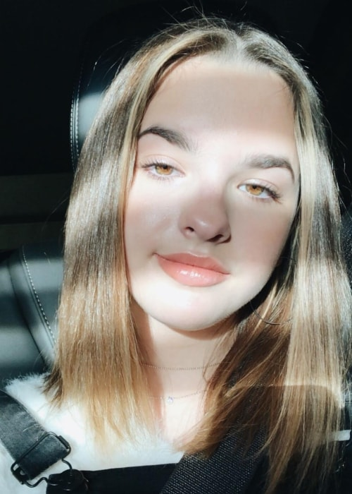 Jenna Raine as seen in a selfie taken in November 2018