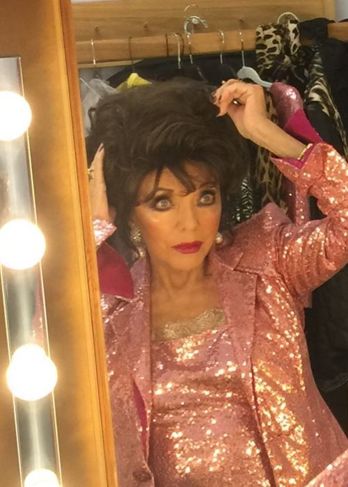 Joan Collins after a Tour as seen on her Instagram in March 2019