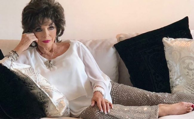 Joan Collins as seen on her Instagram in March 2019
