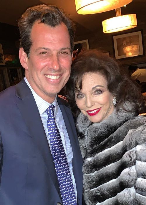 Joan Collins at the Craig's Restaurant as seen in April 2019