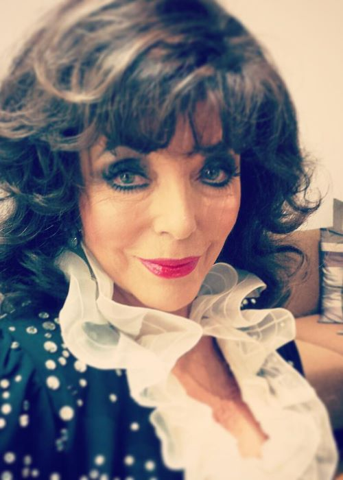 Joan Collins in an Instagram Selfie in March 2019