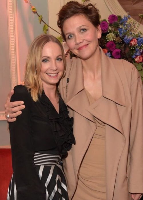 Joanne Froggatt (Left) and Maggie Gyllenhaal as seen in October 2018