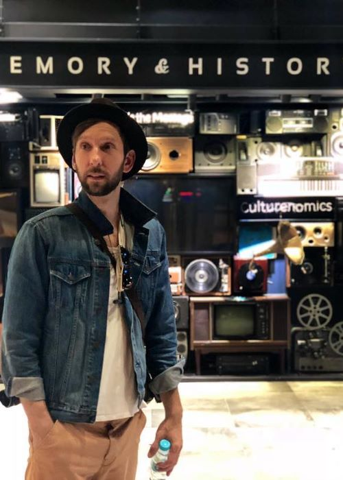 Joel David Moore at the CJ E&M Studio Headquarters in May 2018