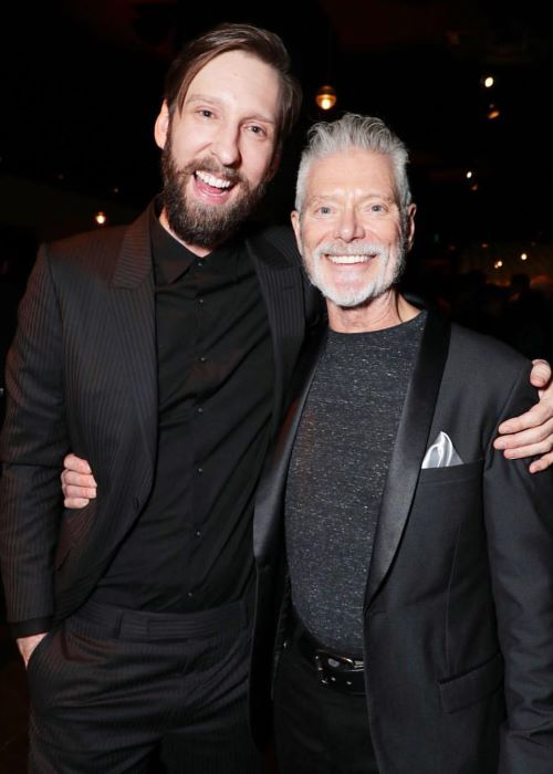Joel David Moore with Stephen Lang in March 2019