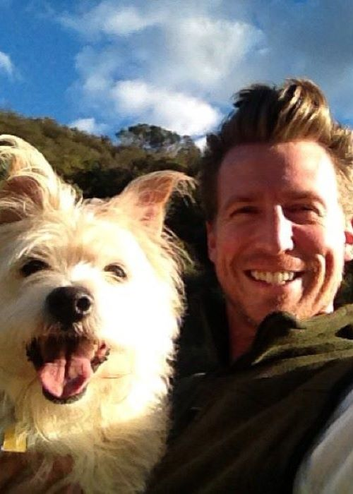 Josh Meyers with his Puppy in an Instagram Selfie in December 2012