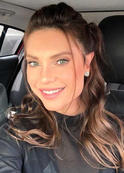 Julia Pereira as seen in a car-selfie in December 2018