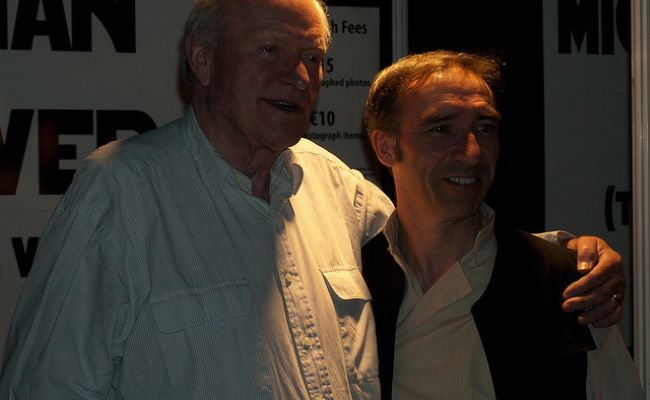 Julian Glover with a fan as seen in April 2011