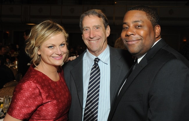 Keenan Thompson (Corner Right) as seen with Amy Poehler at the 72nd Annual Peabody Awards Luncheon in May 2013