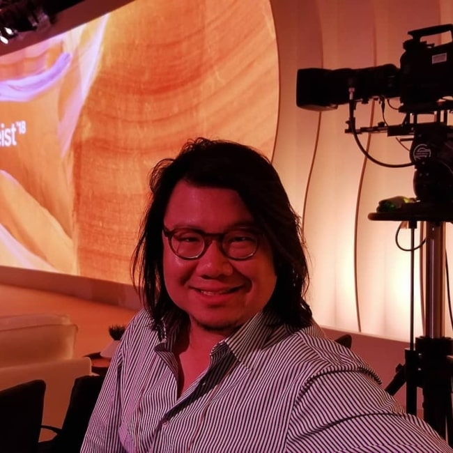 Kevin Kwan as seen in a picture taken Scottsdale, Arizona in October 2018